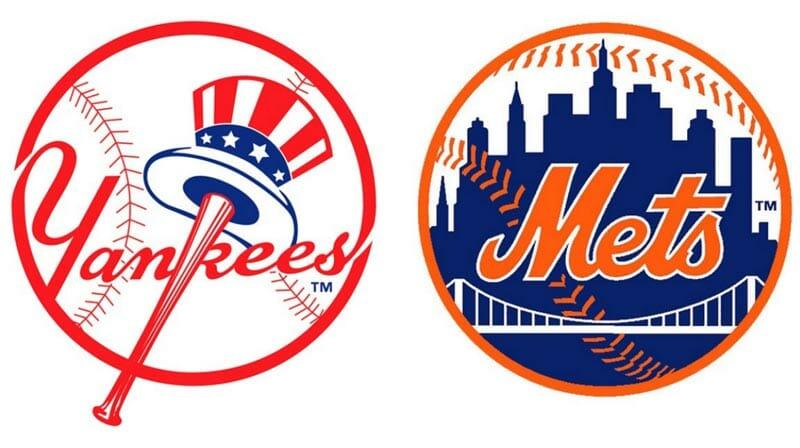 Escudos de los equipos de beisbo Mets y Yankees