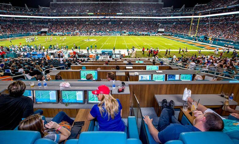 Instantánea del Dolphins, en Miami, EEUU-Stadium