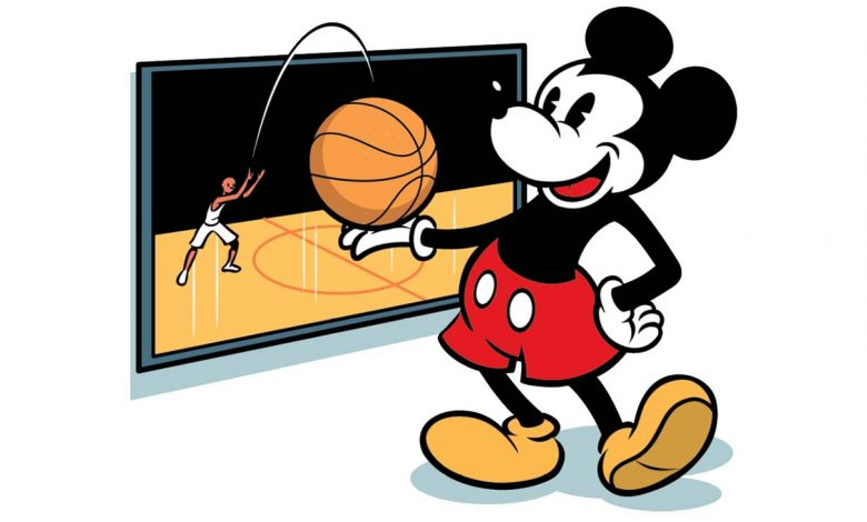 Mickey, el símbolo de Disney también en el deporte