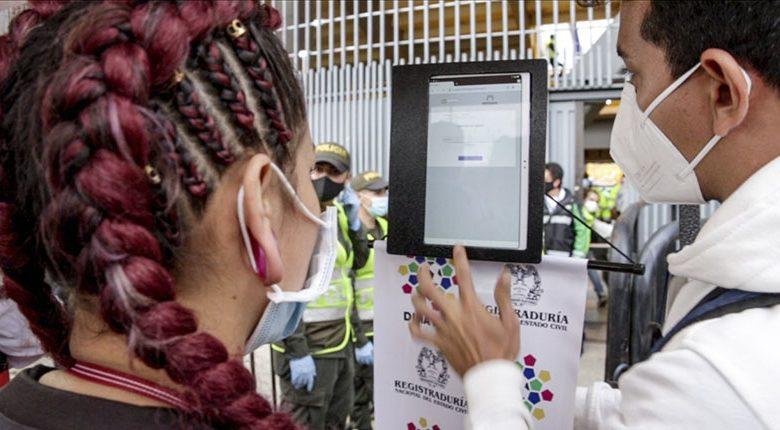 Momento de uso de la biometría en Colombia