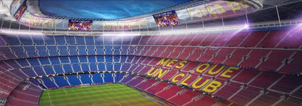 Aspecto interior del futuro Camp Nou. / FCB