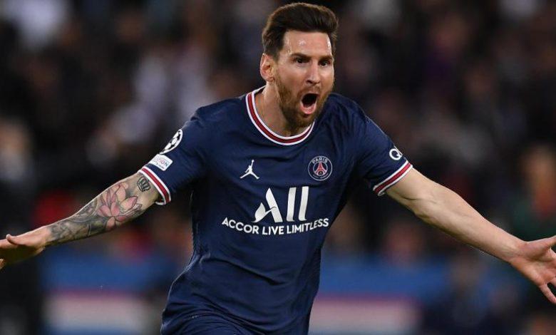 Messi tras meter su primer gol con el PSG