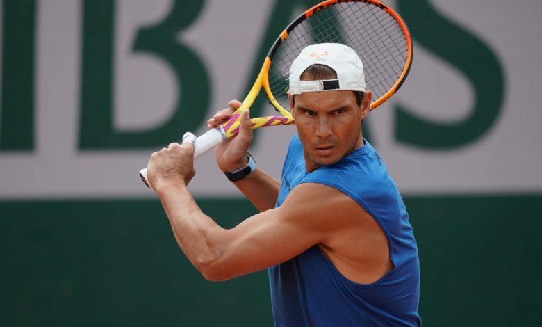 Rafael Nadal en uno de los entrenamientos de la actual edición del Roland Garros