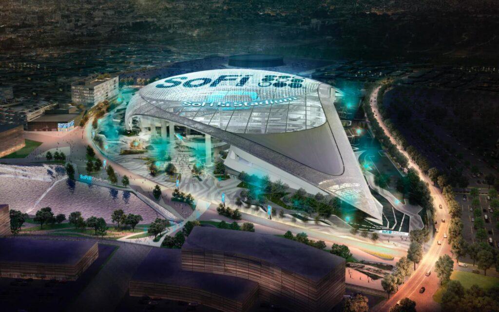 El imponente SoFi Stadium, a vista de pájaro.